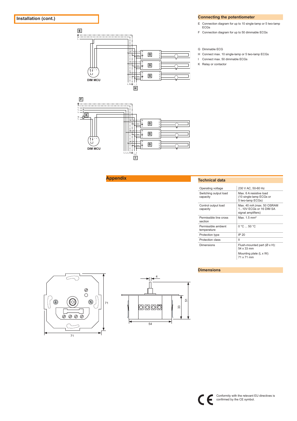 Osram Wiring Diagram Data Two Potentiometers In Series Installation Cont Appendix Connecting The Potentiometer Basic Light Diagrams