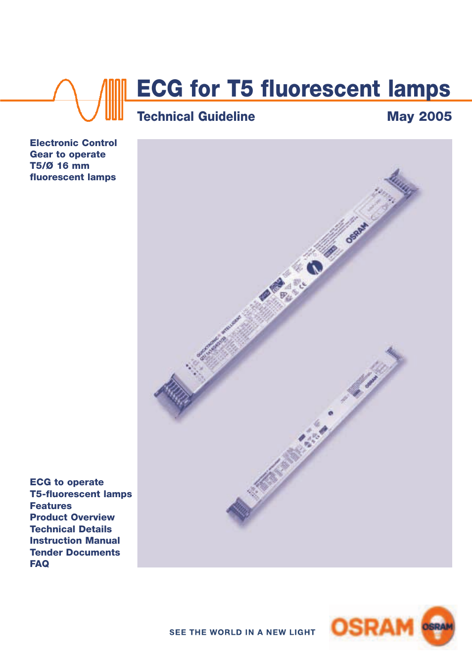 OSRAM QUICKTRONIC-M ECG for circular FL 16 mm User Manual | 93 pages