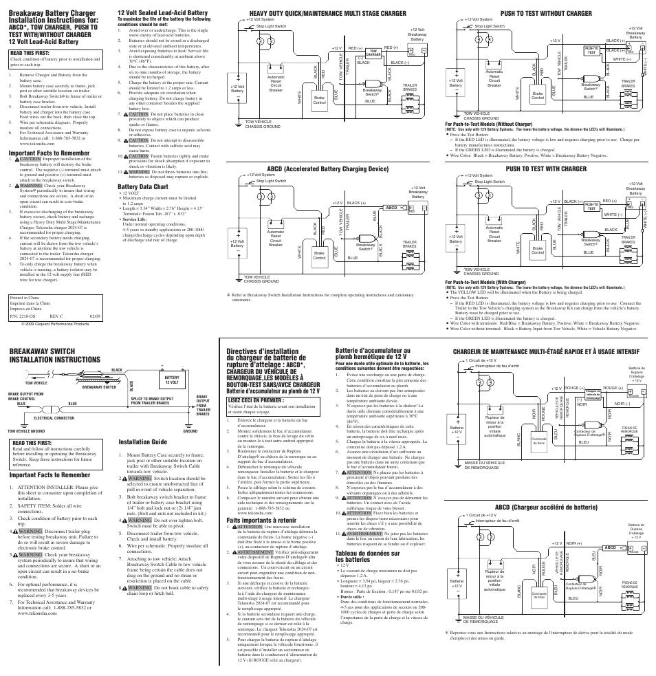 Pro Series 50-85-315 BREAKAWAY SYSTEM User Manual | 2 pages on breakaway battery wiring, power tech trailer breakaway battery diagram, breakaway cable, chevy brake light switch diagram, breakaway switch diagram,
