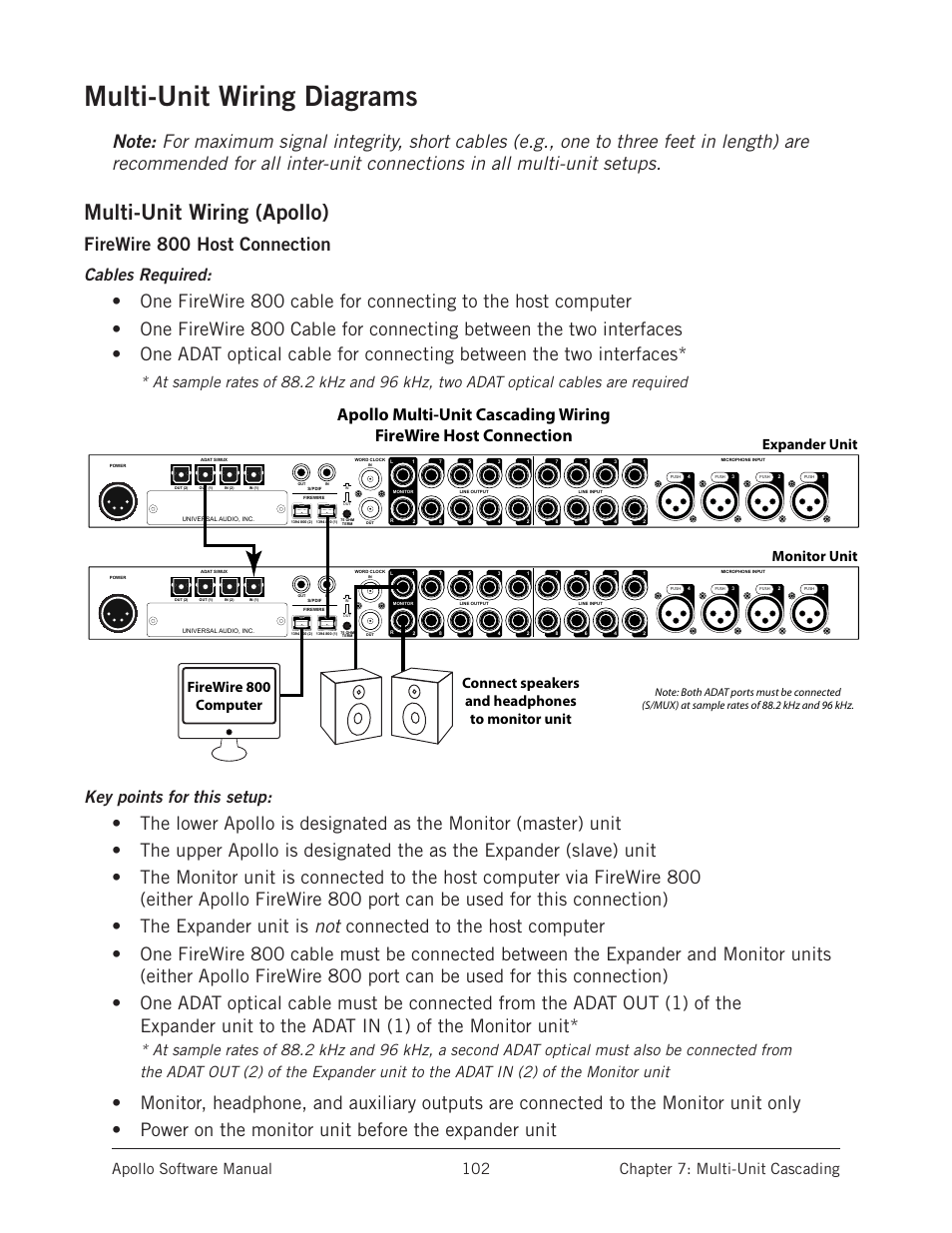 Multi Unit Wiring Diagrams Ware Setups Are In This Chapter Starting Design Software On Apollo Universal Audio User Manual Page 102