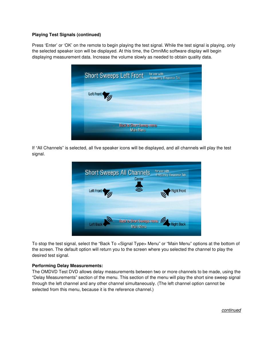 Dayton Audio OMDVD Version 1 Test DVD for OmniMic Precision