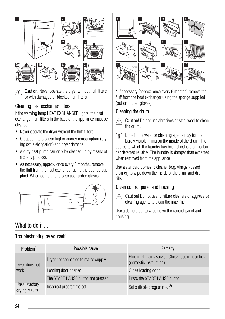 what to do if zanussi zth485 user manual page 24 56