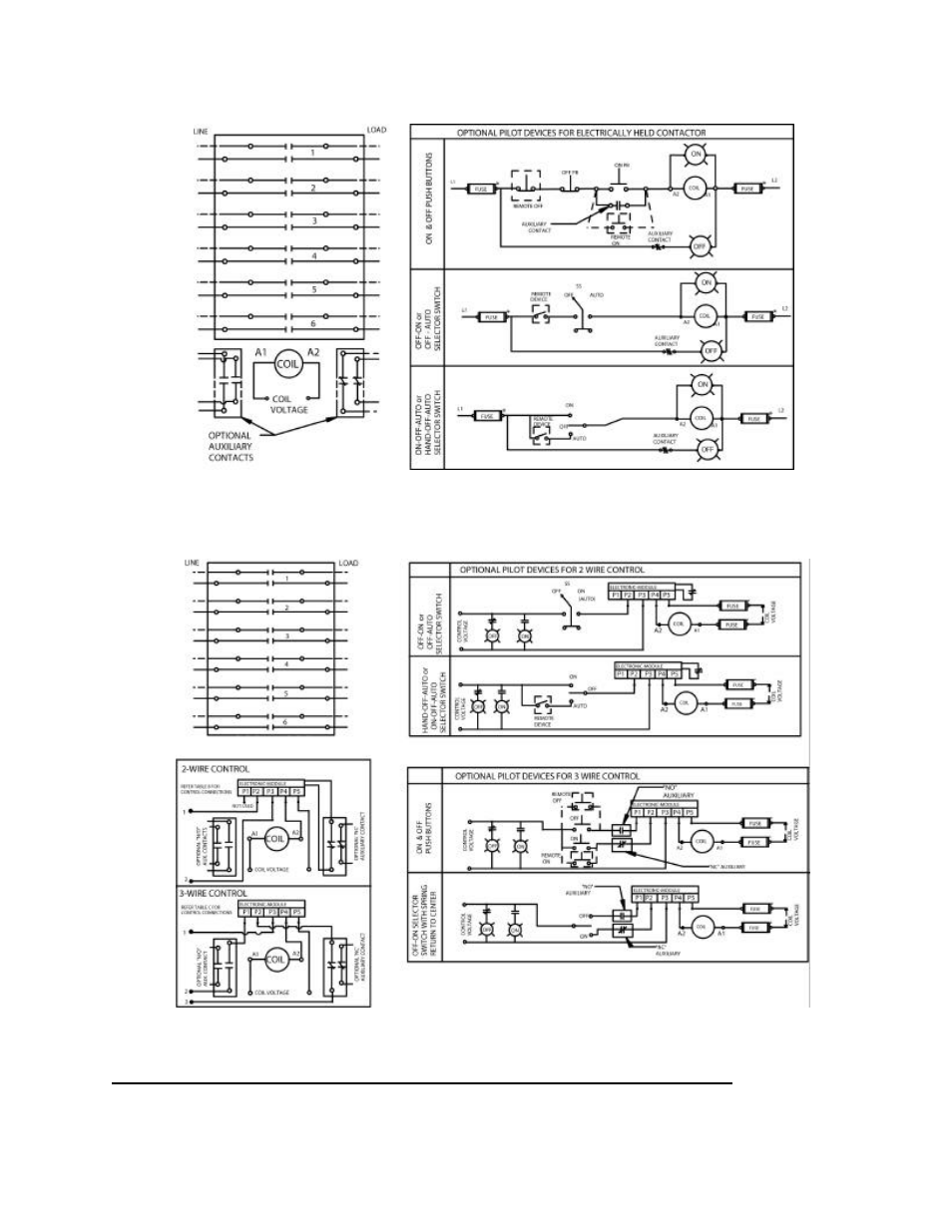 ge industrial solutions cr460 lighting contactor series user manual Single Phase Motor Contactor Wiring Diagrams
