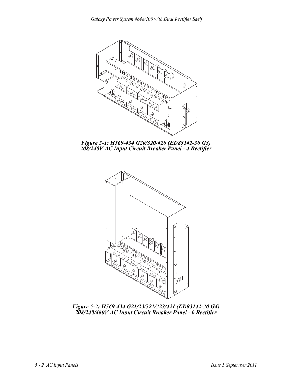 Figure 5 1 H569 434 G20 320 420 Ed83142 30 G3 Ge Industrial A 240v Circuit Breaker Panel Solutions Gps 4848 100 Users Guide Dual Rectifier Shelf User Manual Page 40 118