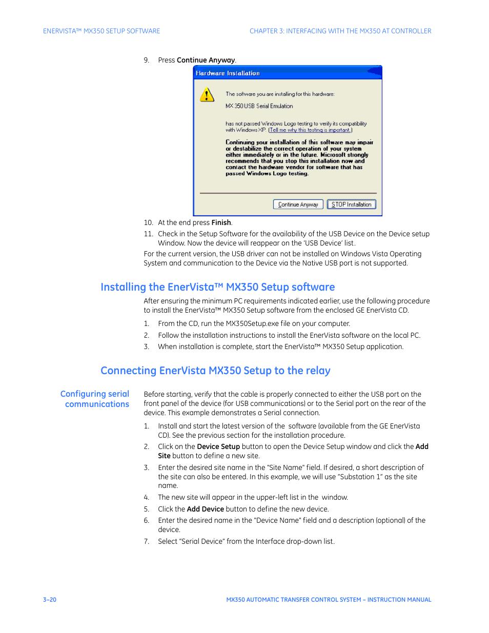 installing the enervista mx350 setup software connecting enervista rh manualsdir com Wildgame Innovations Manuals Operators Manual