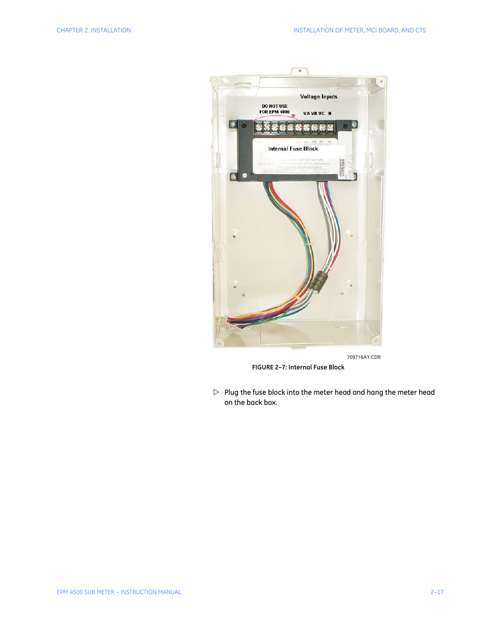 Ge Industrial Solutions Epm4500 Submeter User Manual Page 31 74 Fuse Box