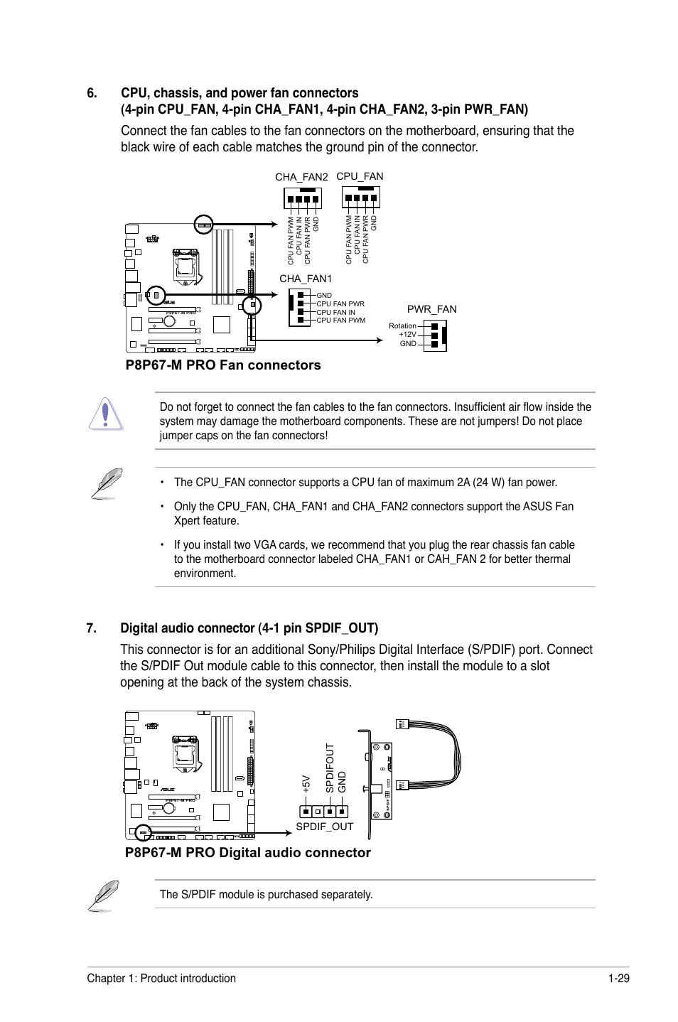 p8p67 m pro fan connectors p8p67 m pro digital audio connector rh manualsdir com