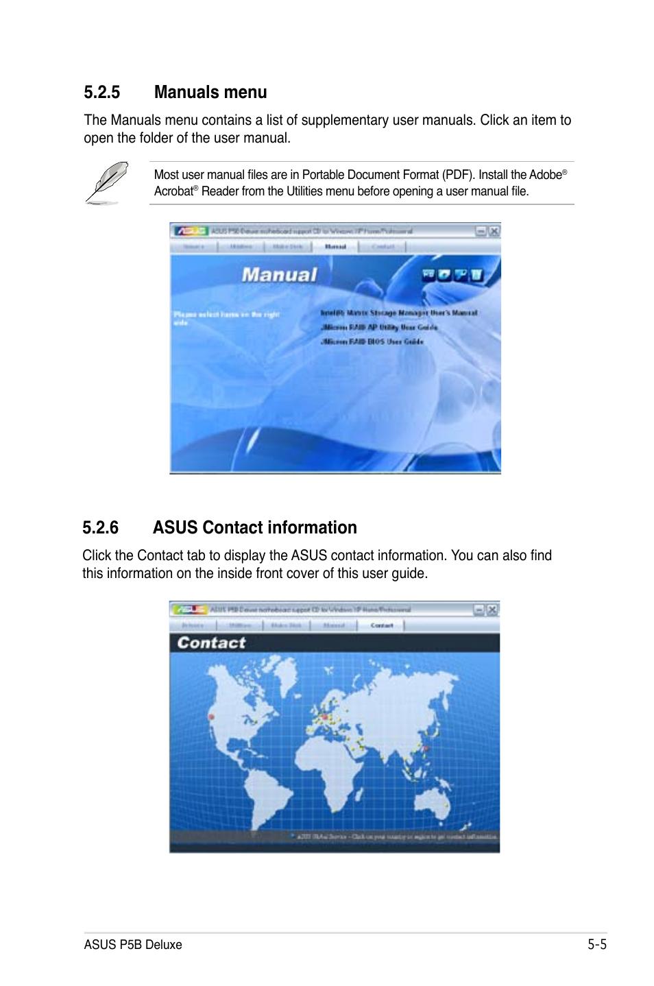 asus p5b deluxe manual pdf