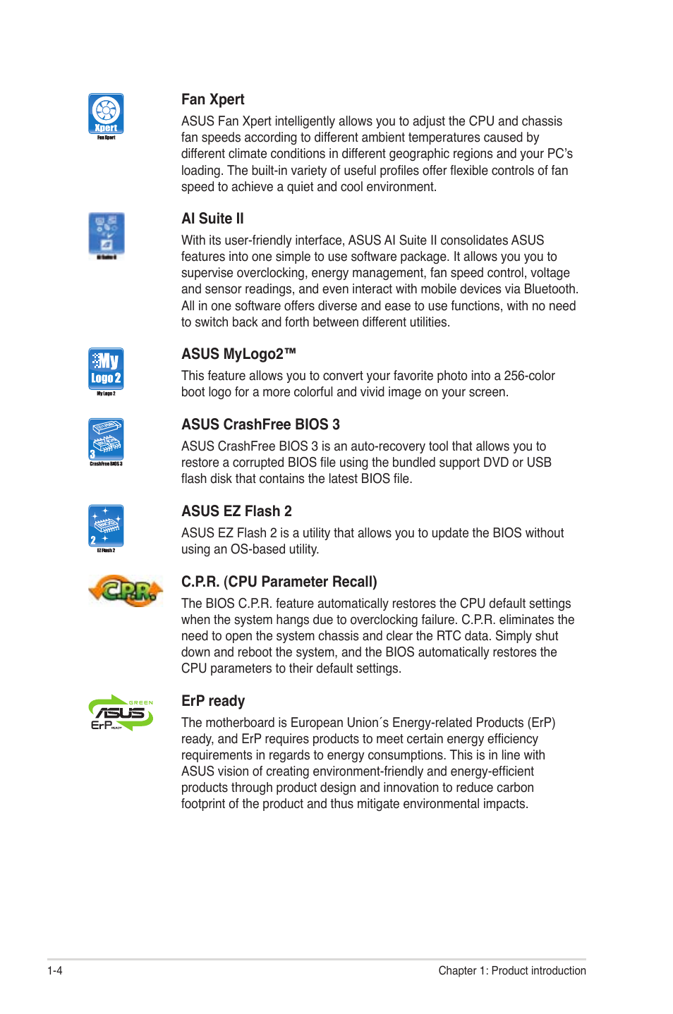 Asus P8H61-M PRO User Manual | Page 16 / 76