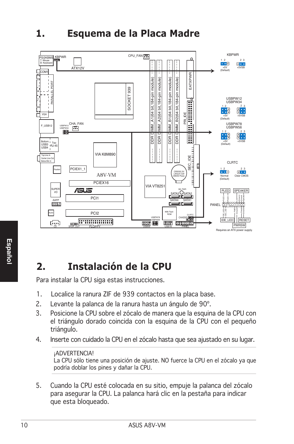 instalaci n de la cpu esquema de la placa madre espa ol asus a8v rh manualsdir com asus a8v-vm manual asus a8v-vm se drivers for windows 7