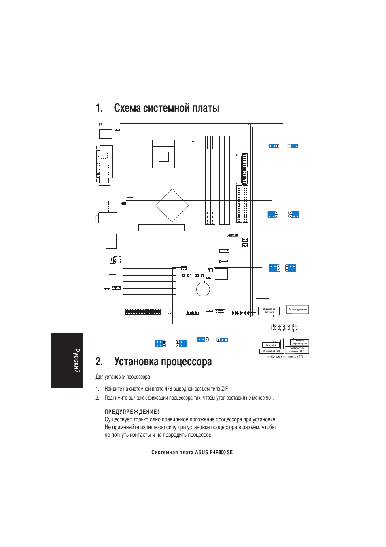 p4p800se инструкция по установке