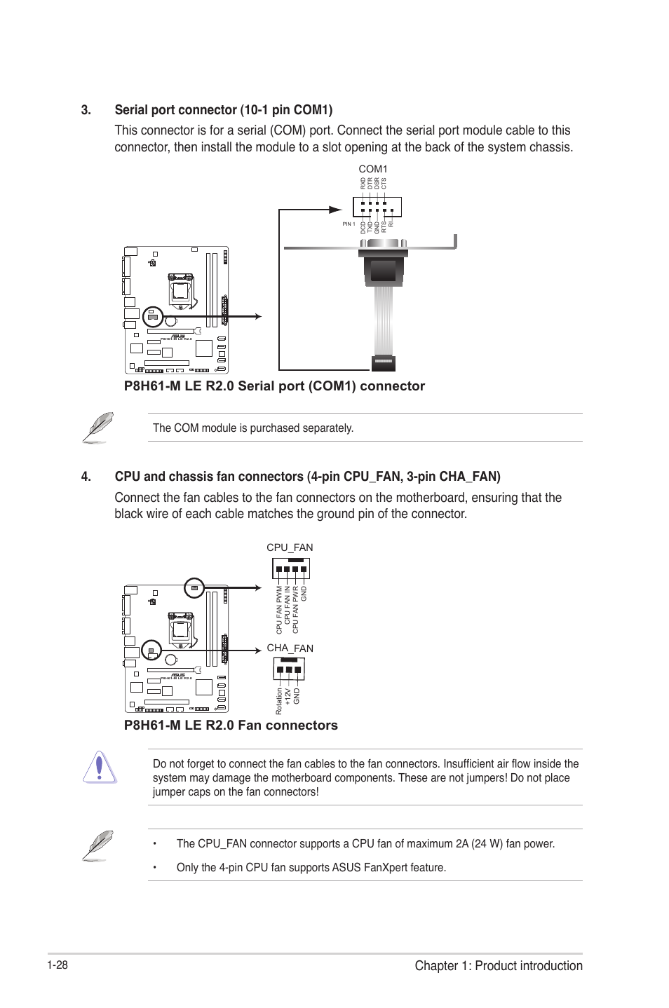 Chapter 1: product introduction | Asus P8H61-M LE R2 0 User