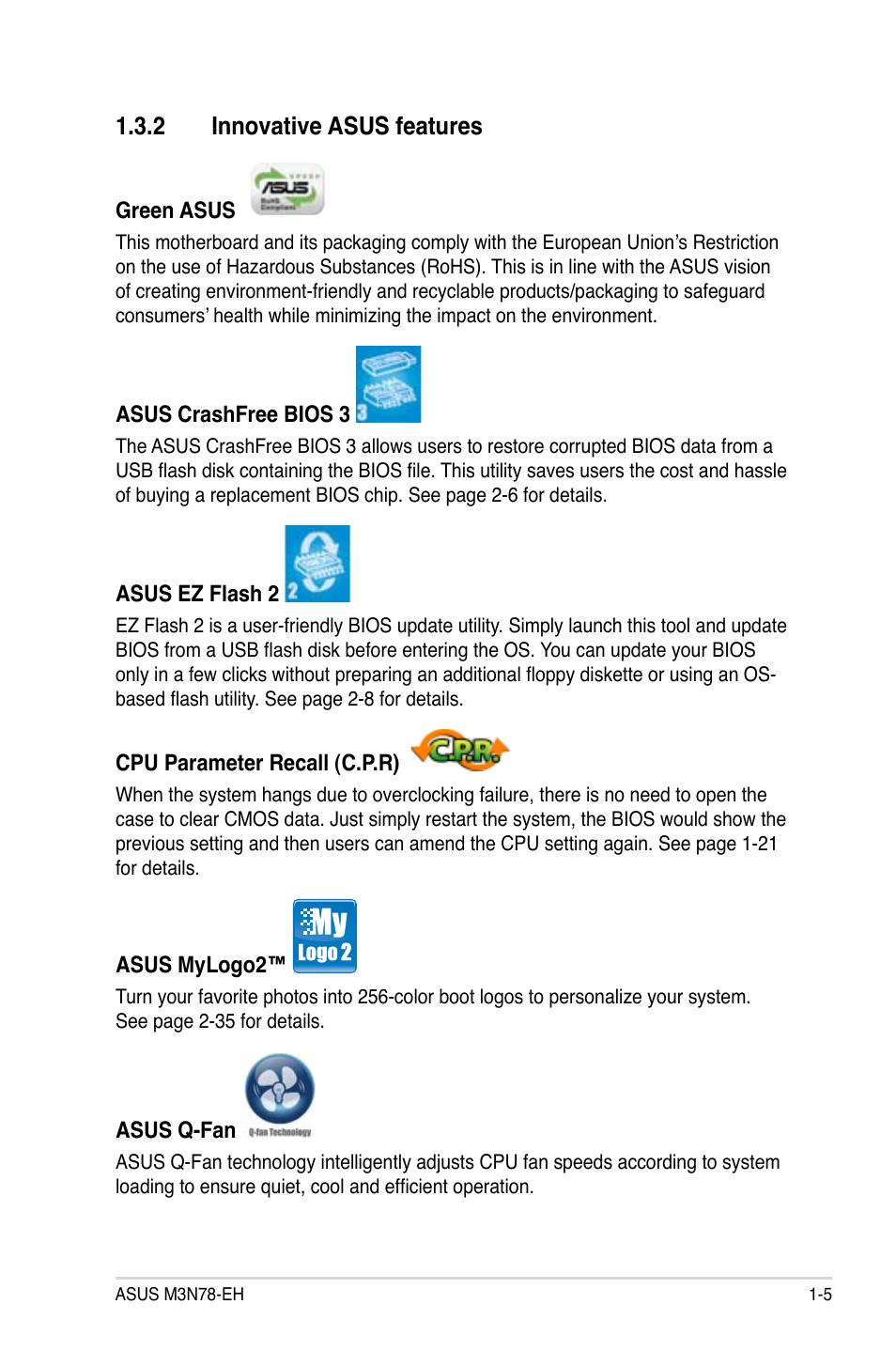 2 innovative asus features   Asus M3N78-EH User Manual