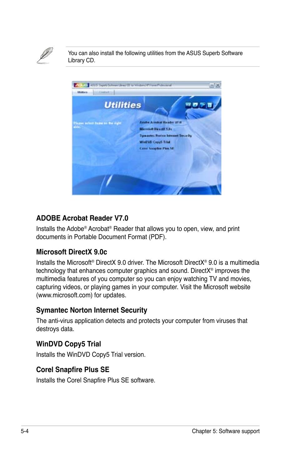 adobe acrobat reader v7 0 microsoft directx 9 0c symantec norton rh manualsdir com Adobe Acrobat Logo Adobe InDesign