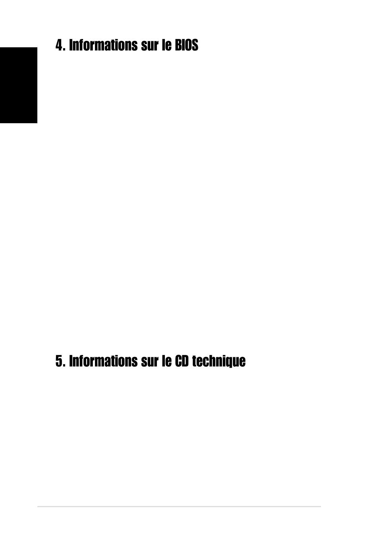 Informations Sur Le Bios Informations Sur Le Cd Technique Mettre A