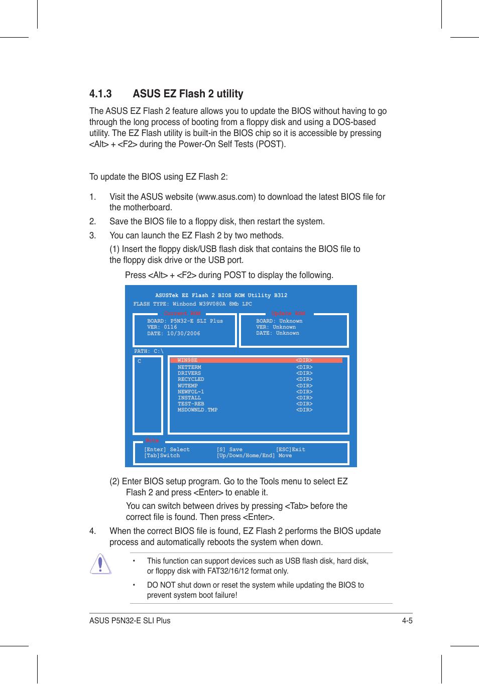 3 asus ez flash 2 utility | Asus P5N32-E SLI Plus User