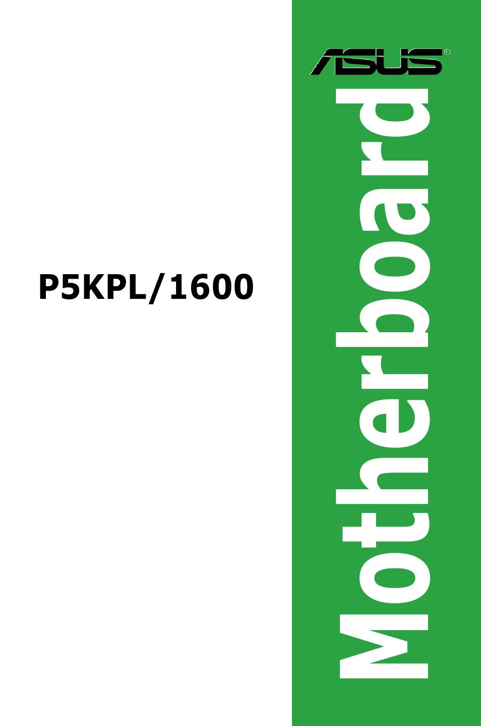 Asus p5kpl/1600 user's manual(english) page 45.