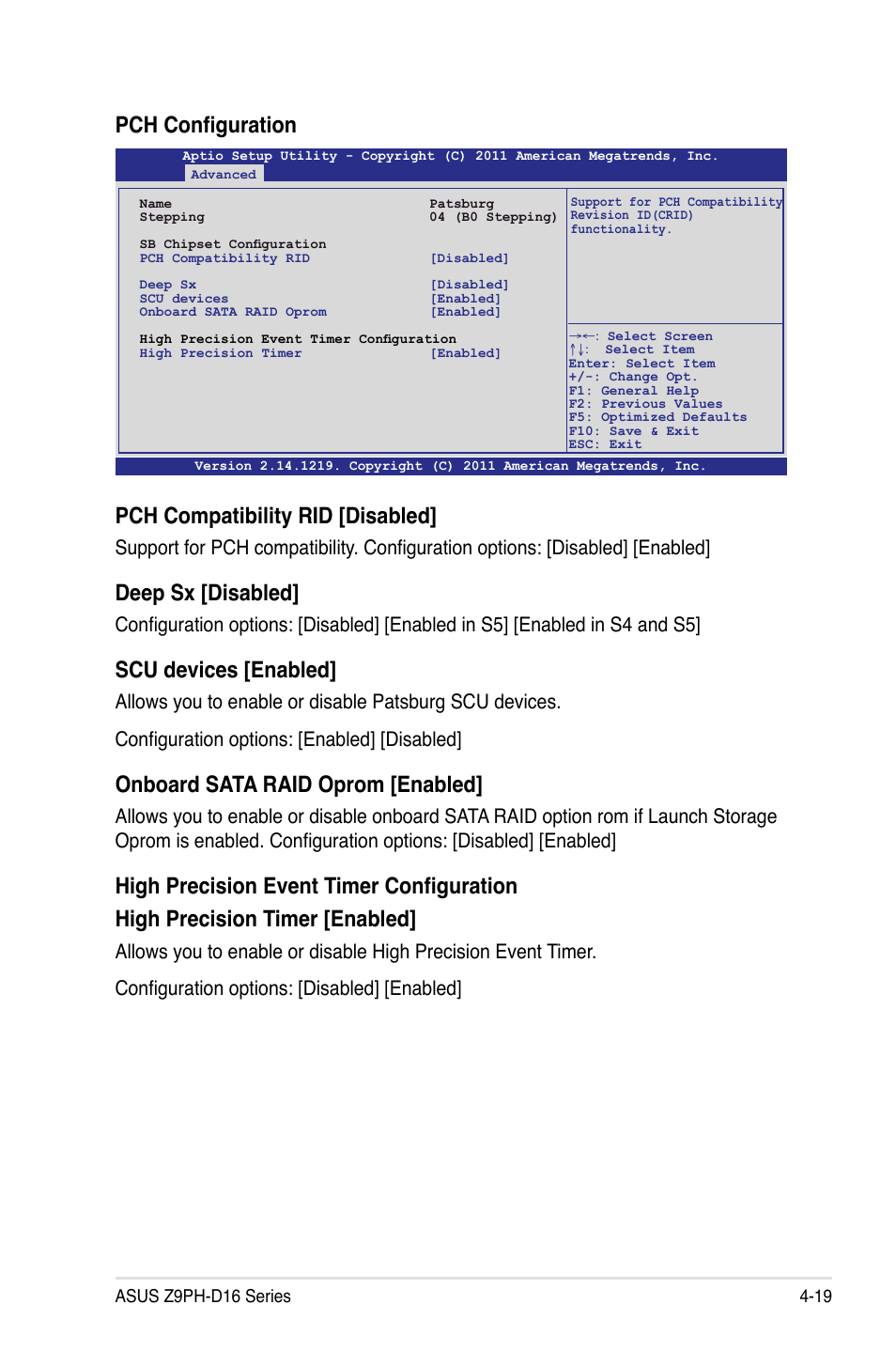 Pch configuration pch compatibility rid [disabled, Deep sx
