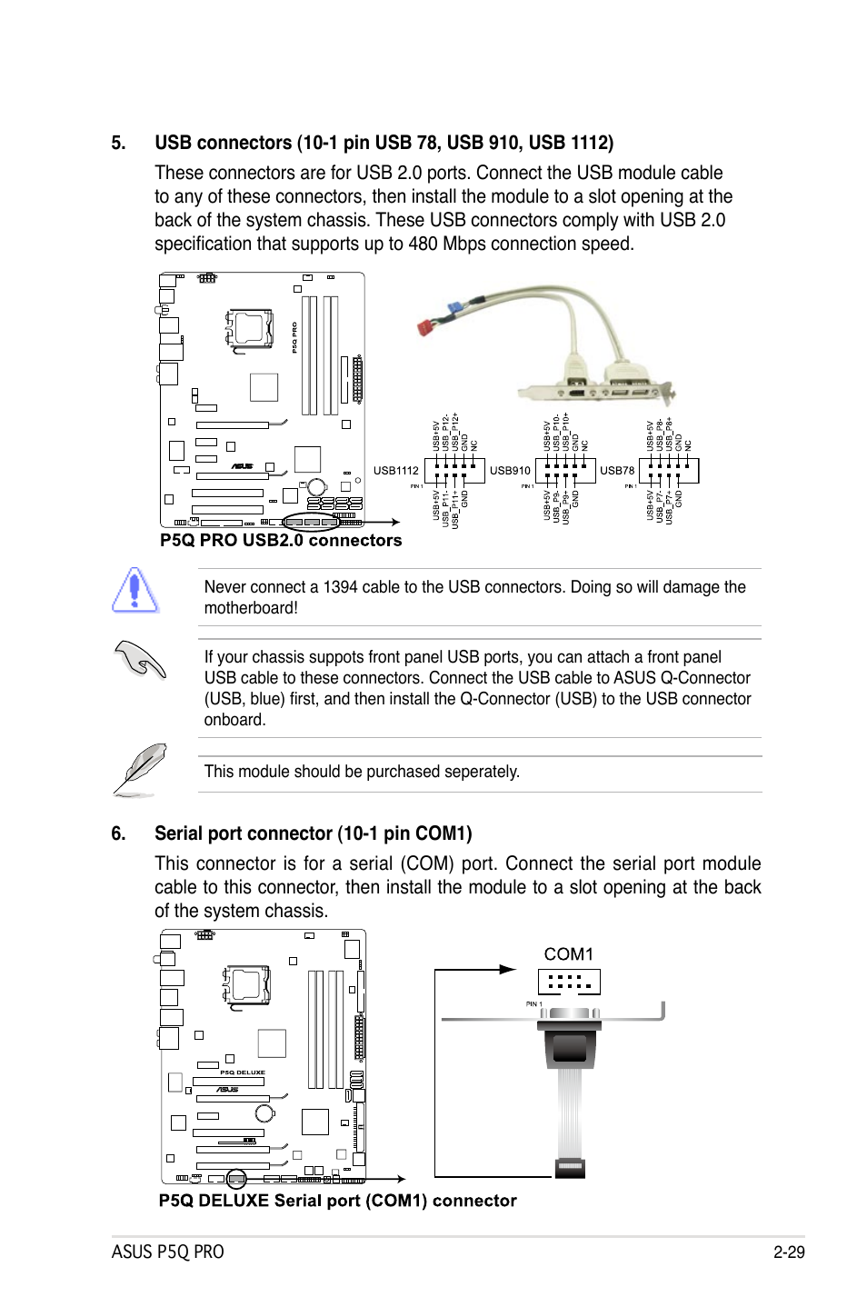 Asus P5q Pro Installation Manual Photos Collections Usb Cable Wiring Diagram User Page 55 180