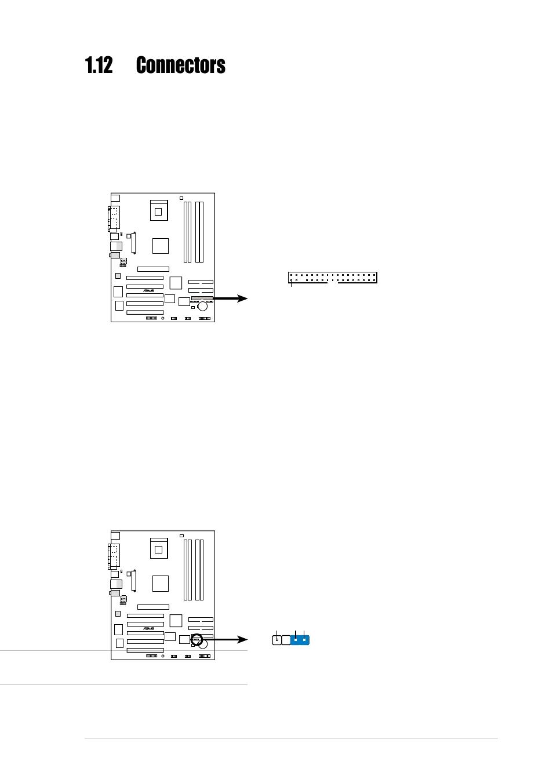 Manualguide Ribbon Cable Schematic 12 Connectors Asus P4xp X Motherboard User Guide 1 15 Rh Manualsdir Com