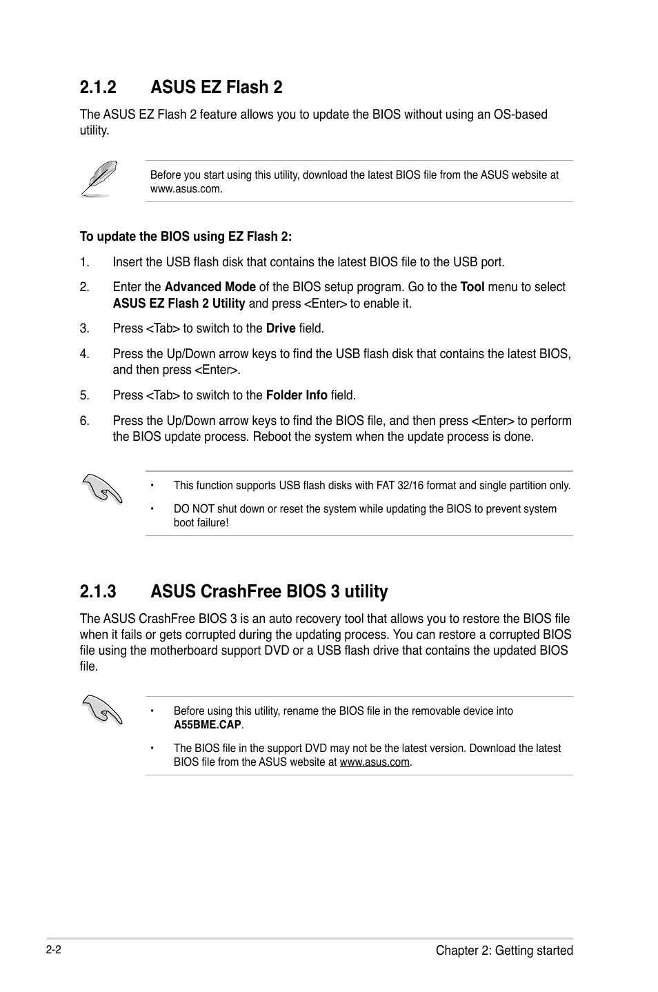 asus easy flash utility recovery