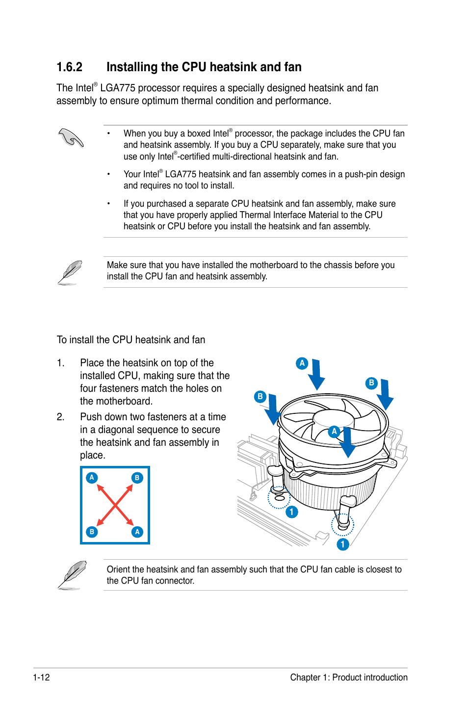 2 Installing The Cpu Heatsink And Fan