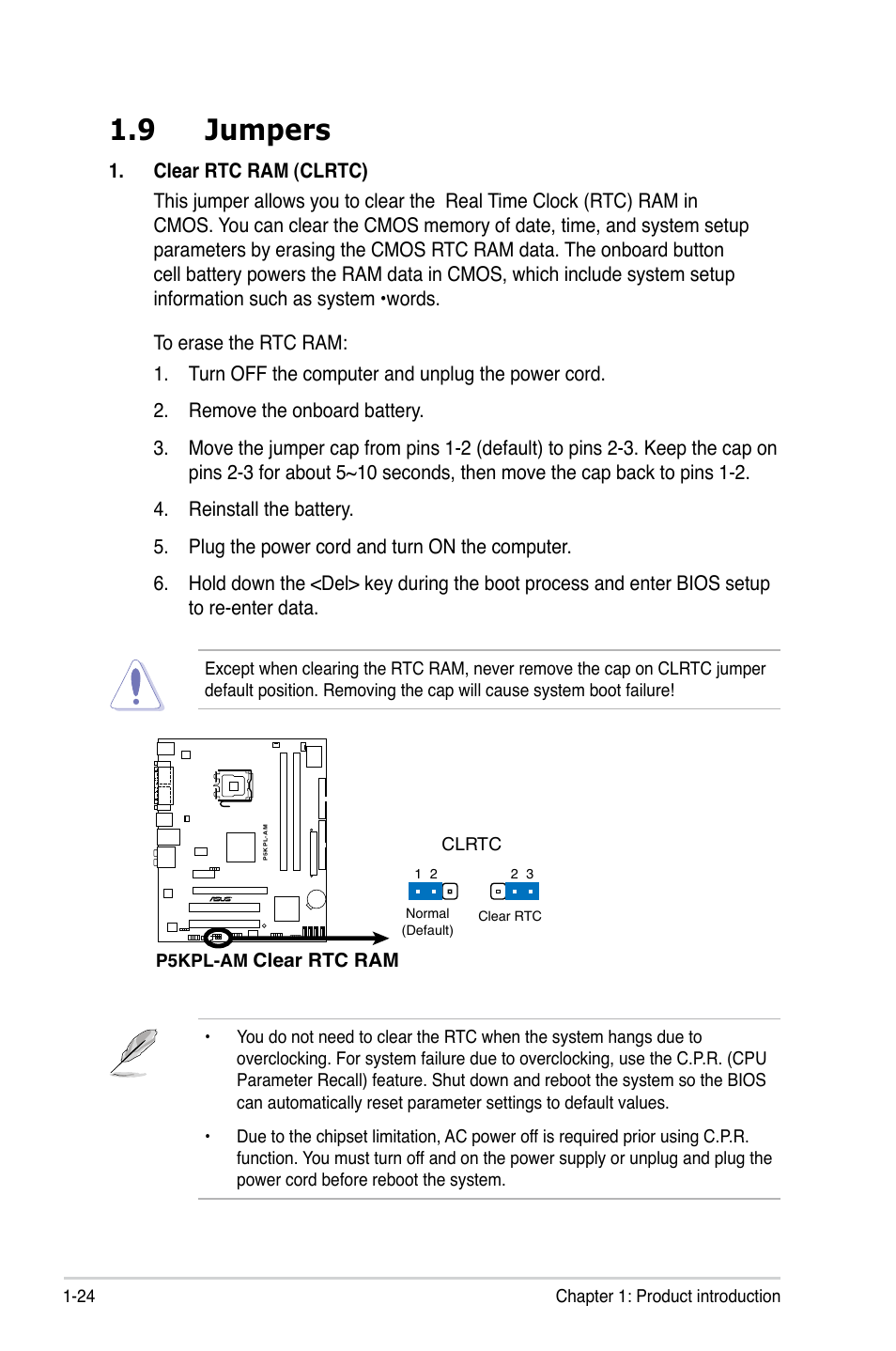 9 jumpers | Asus P5KPL-AM/PS User Manual | Page 36 / 90