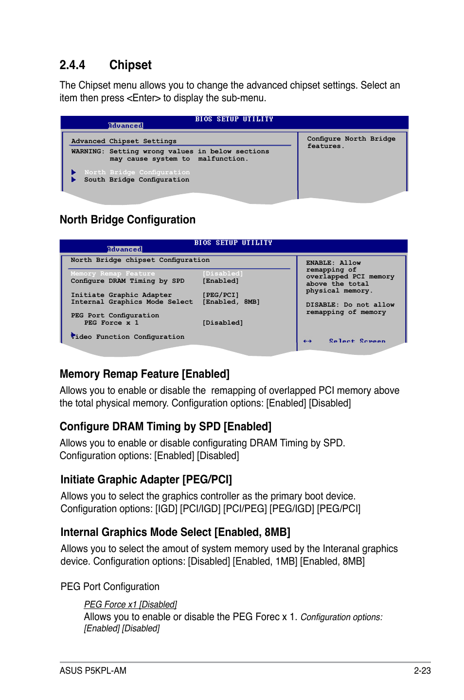 4 chipset, Configure dram timing by spd [enabled, Initiate