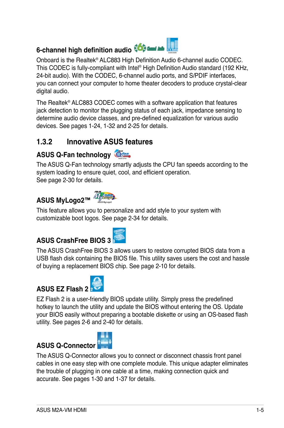 2 innovative asus features | Asus M2A-VM HDMI User Manual