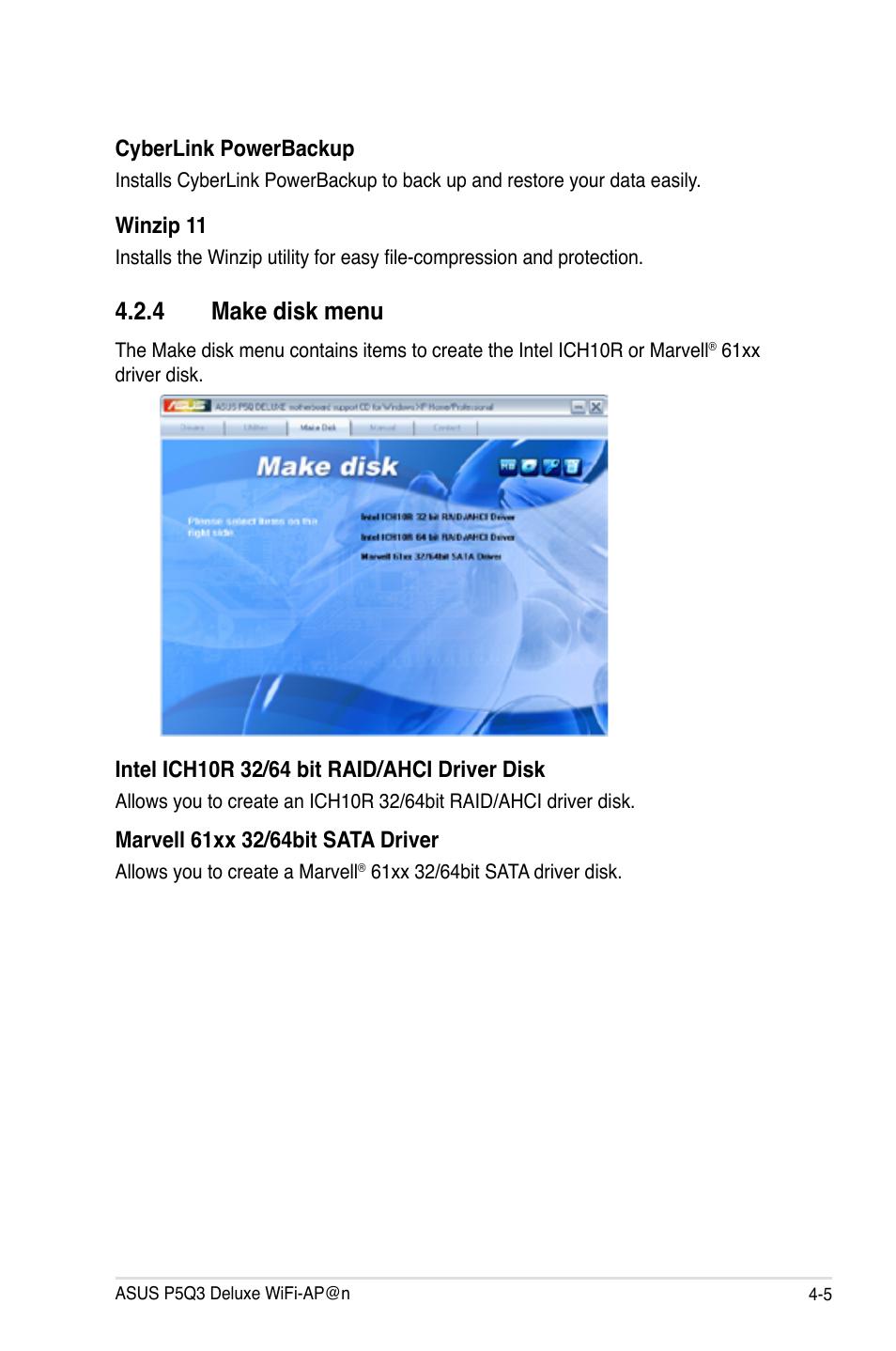 4 Make Disk Menu 5