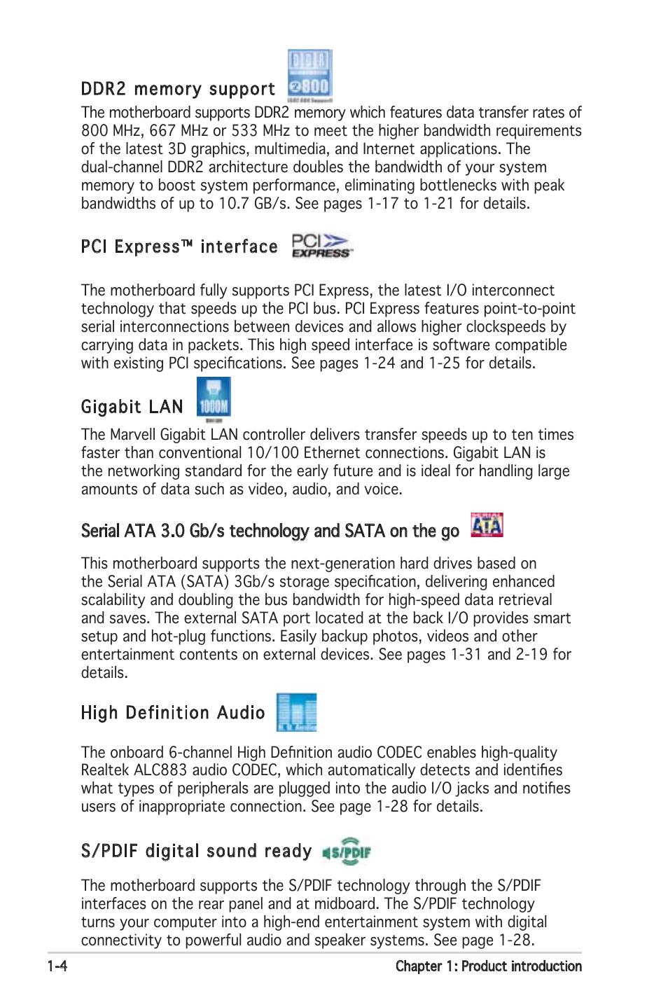 Asus P5N-E SLI User Manual | Page 18 / 122