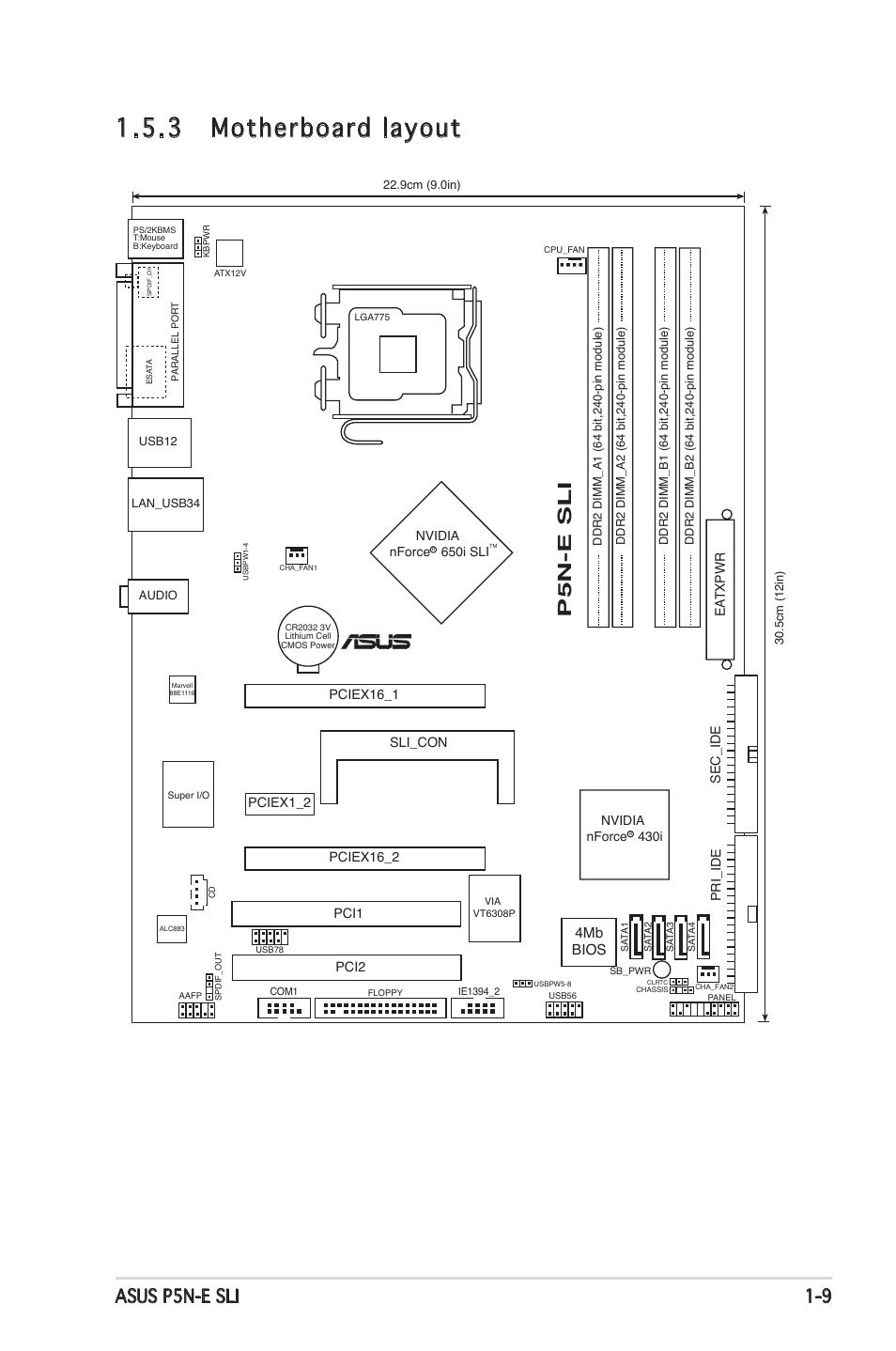 3 motherboard layout  asus p5n  122