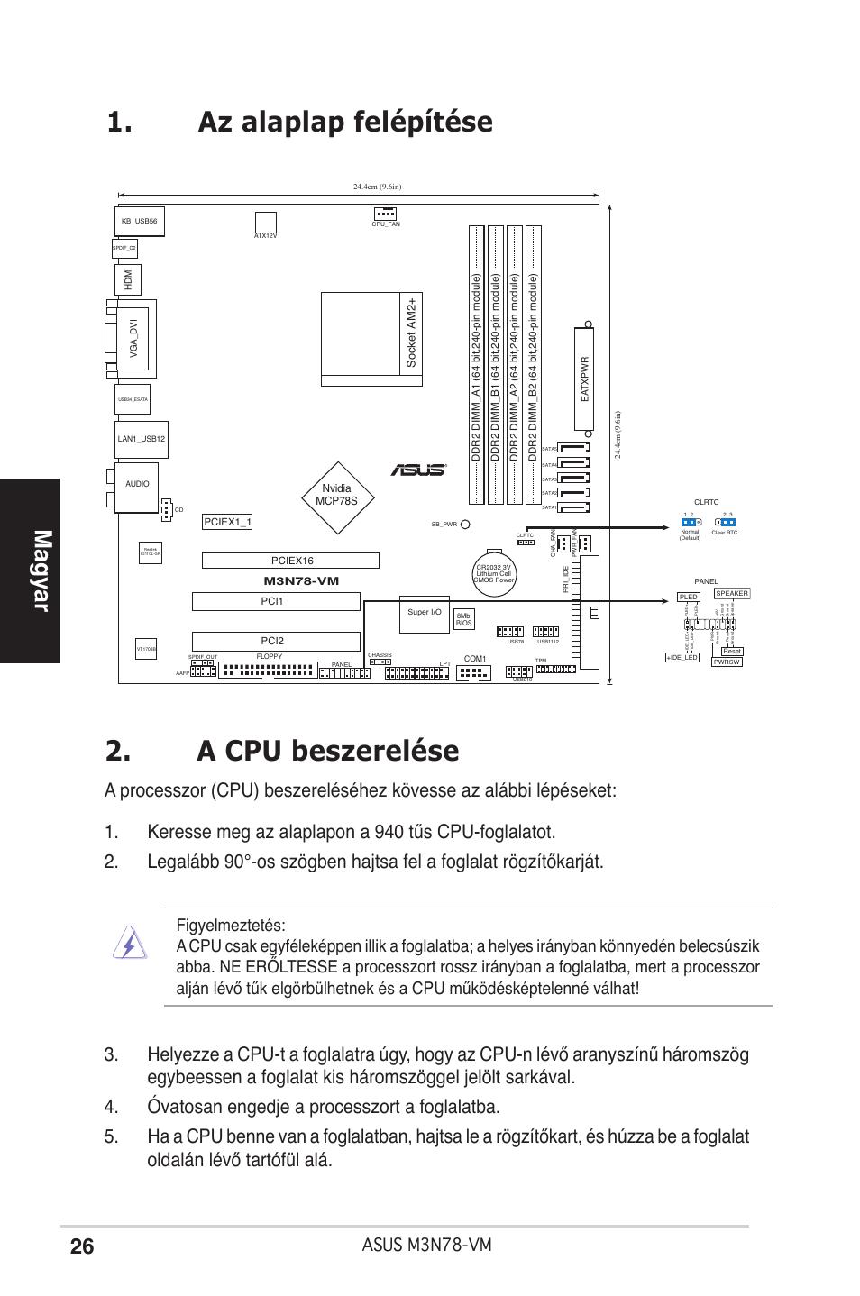 asus m3n78 vm page26 a cpu beszerel�se, az alaplap fel�p�t�se, magyar asus m3n78 vm VMware View Diagram at aneh.co