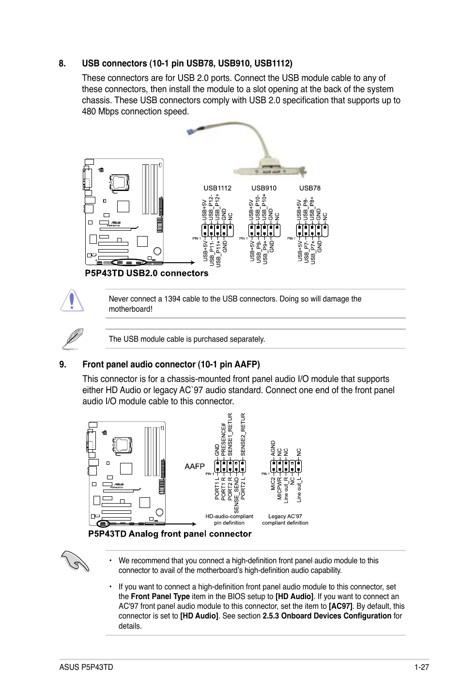 Asus P5P43TD/USB3 User Manual | Page 37 / 62 | Also for: P5P43TD