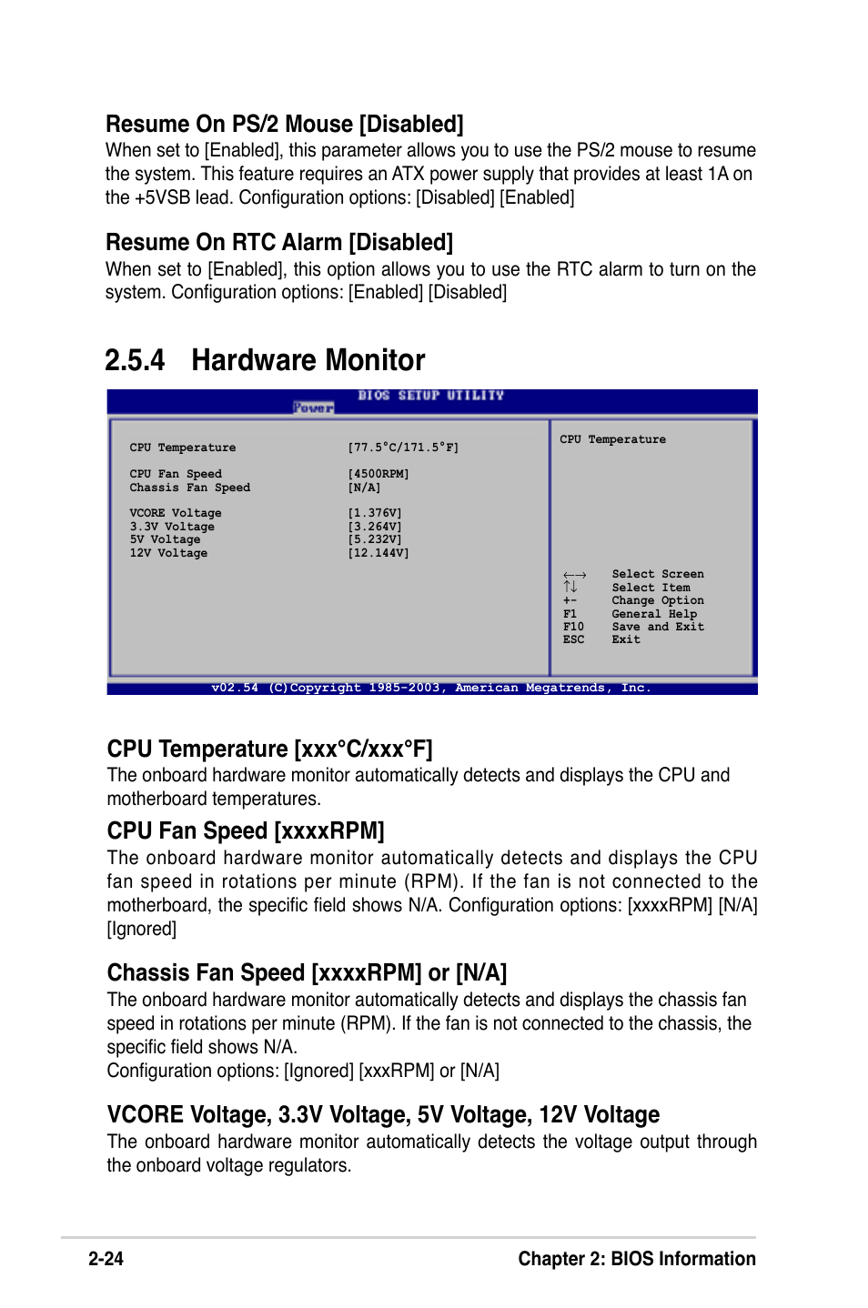 hardware monitor cpu temperature xxx c xxx f resume on ps 2 mouse
