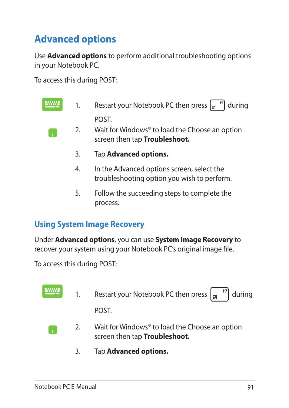 advanced options asus notebook pc e manual user manual page 91 rh manualsdir com asus eee pc 1018p user manual asus notebook pc user guide