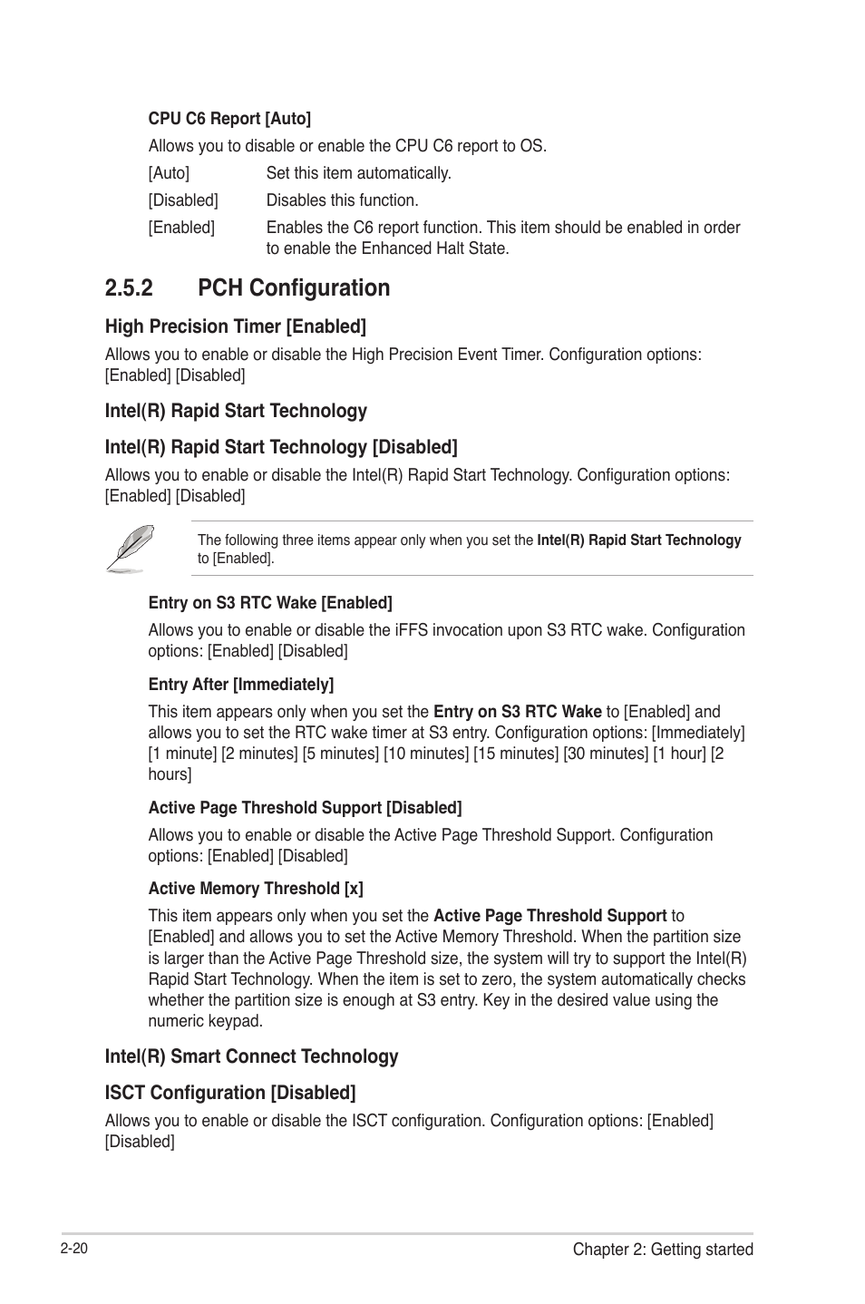 2 pch configuration, Pch configuration -20 | Asus P8H77-V
