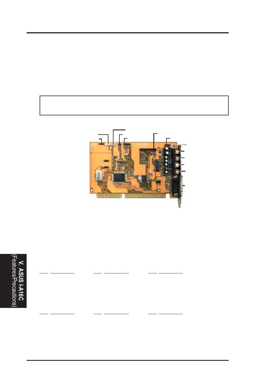 V  asus i-a16c audio card, Asus i-a16c audio features