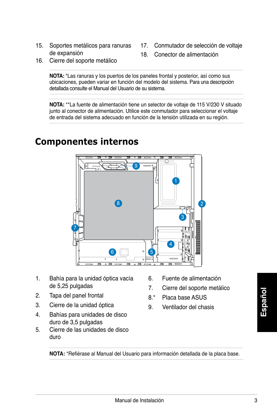 ... Array - componentes internos espa ol asus p3 ph4 user manual page 35 rh  manualsdir com