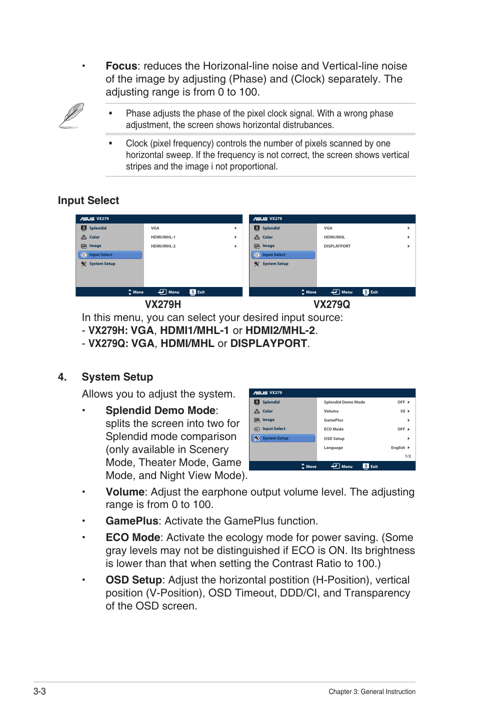 Asus VX279Q-W User Manual | Page 21 / 26 | Also for: VX279Q, VX279H