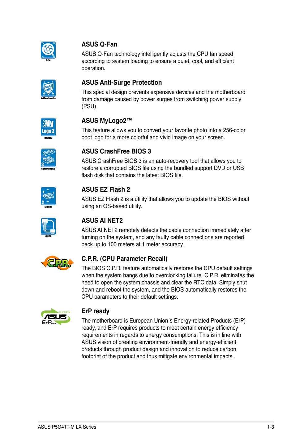 Asus P5G41T-M LX V2 User Manual | Page 13 / 62 | Also for