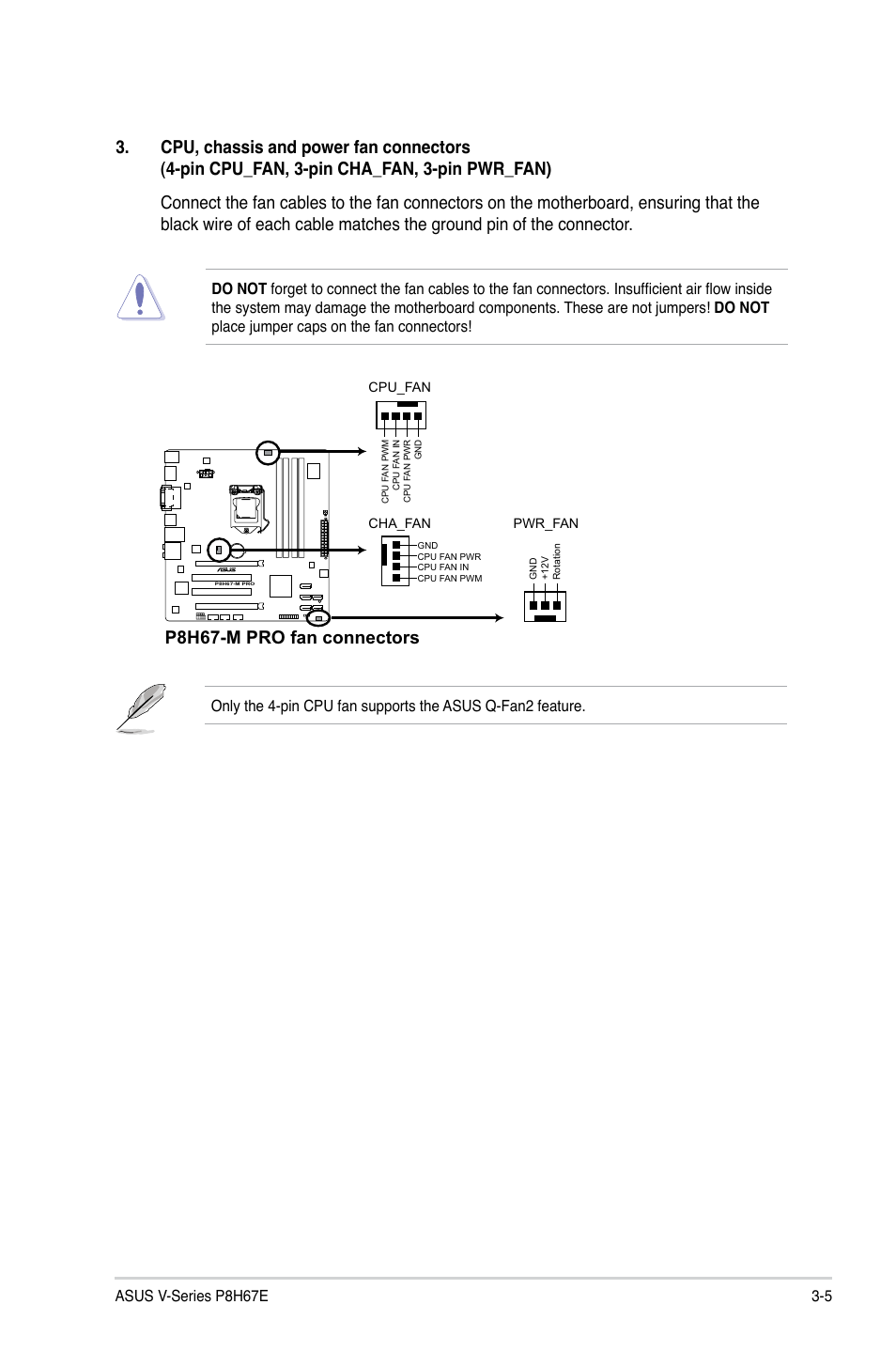 3 Pin Cpu Fan Wire Diagram Wiring Library 4 Pwm P8h67 M Pro Connectors Asus V8 P8h67e User Manual Page 49 79