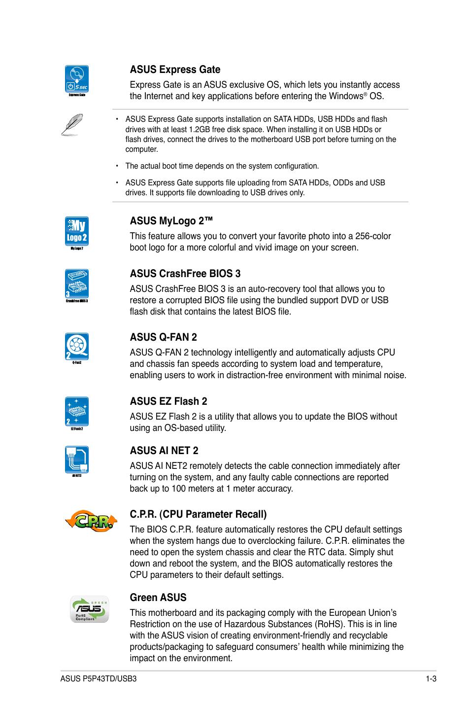 Asus P5P43TD/USB3 User Manual | Page 13 / 64 | Original mode