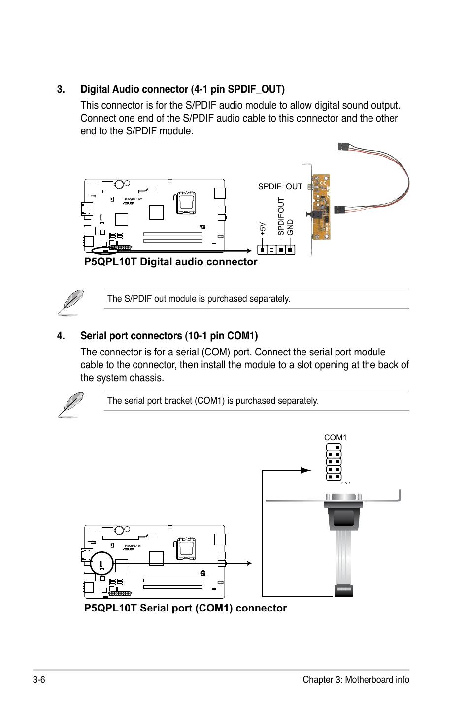 P5qpl10t Serial Port Com1 Connector Asus P6 P5g41e User Manual Wiring Diagram Page 35 67
