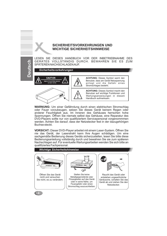 Deutsch | Xoro HSD 202 User Manual | Page 6 / 92