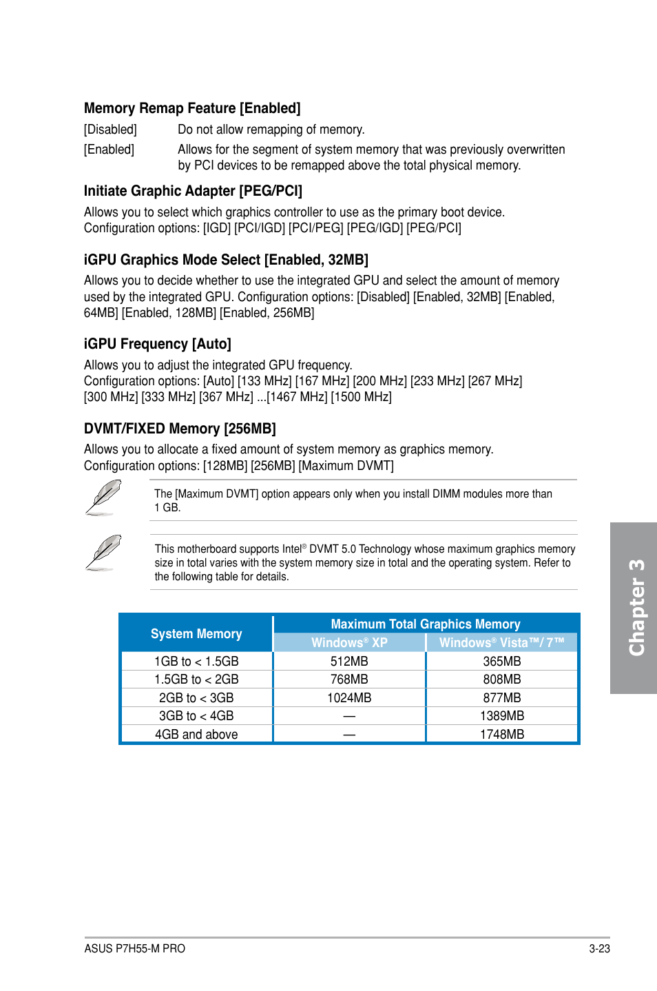 Chapter 3 | Asus P7H55-M PRO User Manual | Page 77 / 104