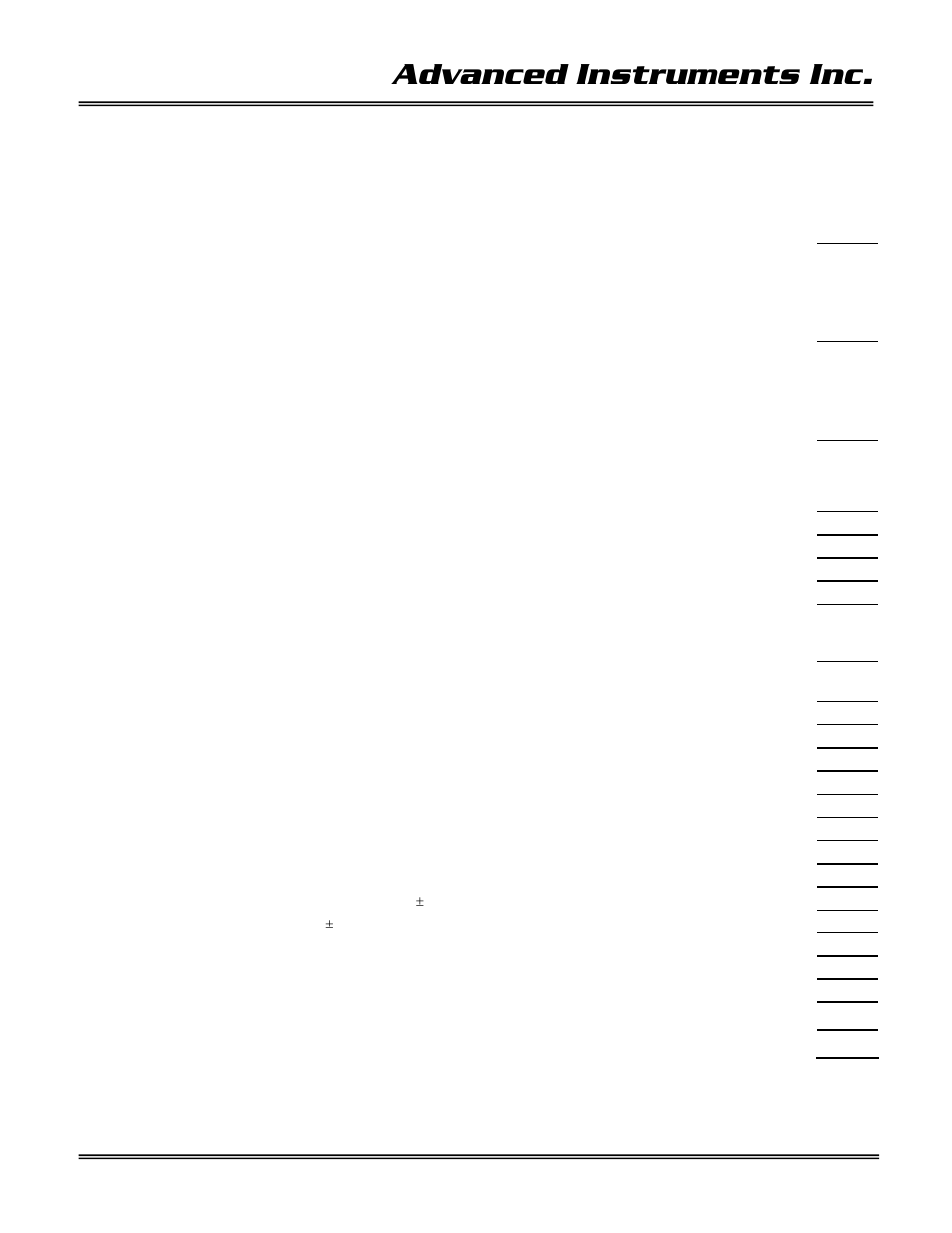 2 quality control certification, Advanced instruments inc