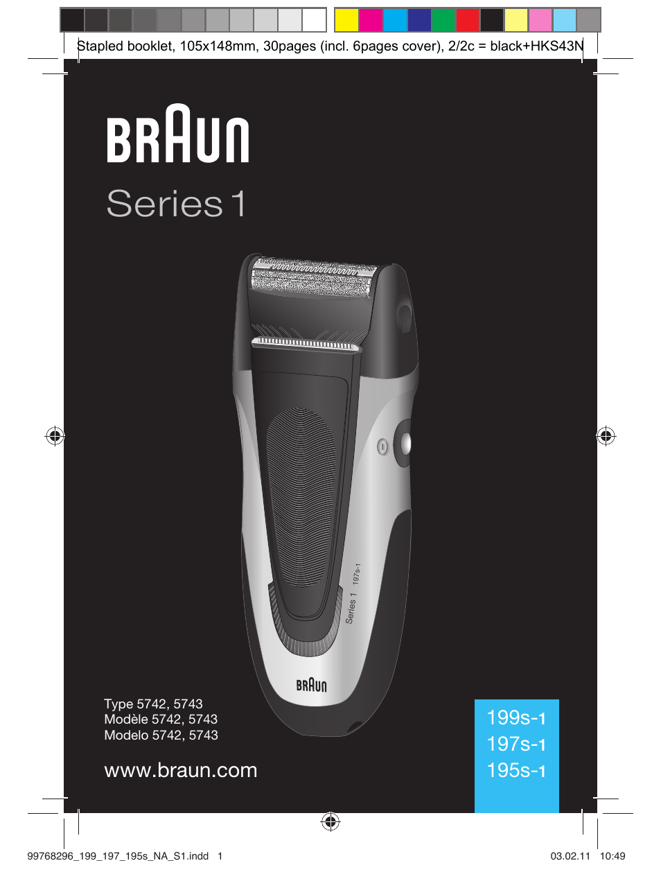 braun 199s 1 series 1 user manual 30 pages also for Braun Shavers Braun Shavers