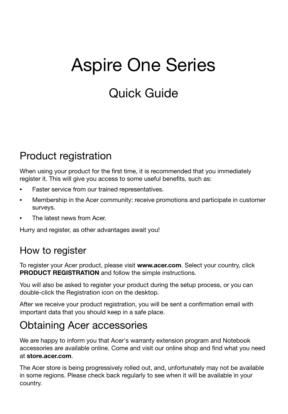 acer ao725 user manual 9 pages also for aspire v5 121 rh manualsdir com Quick Start Guide Quick Guide Template