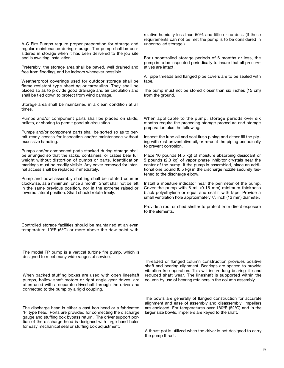 General description | Xylem A-C Fire Pump – Vertical Turbine